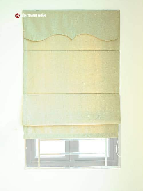 Rèm vải roman chất gấm dùng kẹp