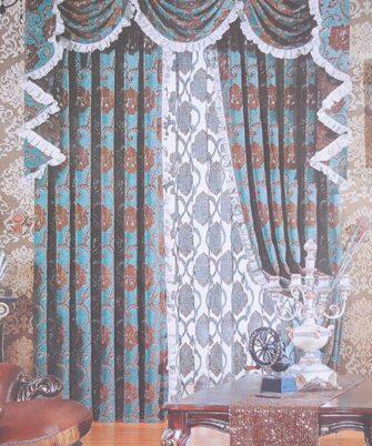Rèm vải hoa văn HN-2012-6