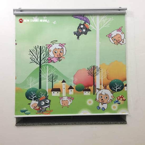 Rèm cuốn in tranh CT-026 cho phòng trẻ tại Hà Đông