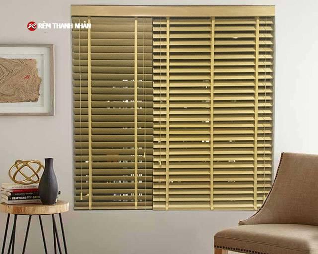 Rèm gỗ MSJ-303 màu vàng