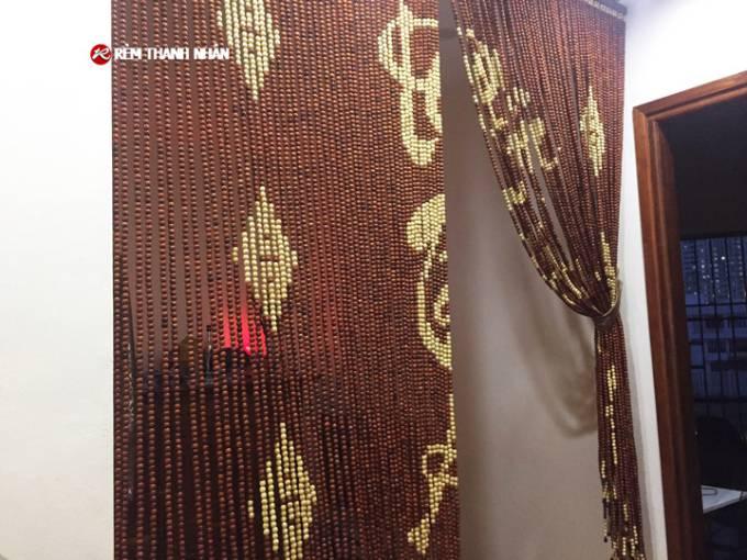 Mành hạt gỗ Hương D12 màu nâu