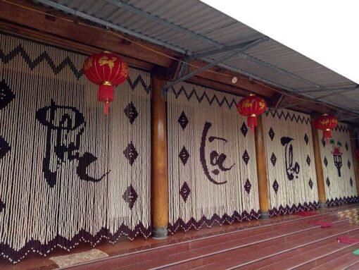 Rèm gỗ Bồ Đề Phúc Lộc Thọ chùa 1 cột bông Sen