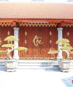 Rèm hạt gỗ Hương cho nhà thờ