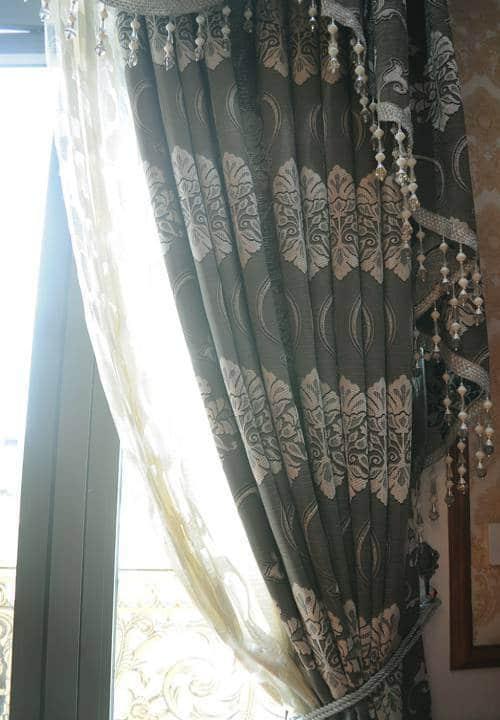 Rèm vải hoa văn RV-2012-9