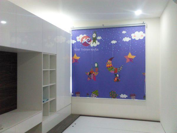 Rèm cuốn tranh phòng ngủ của trẻ