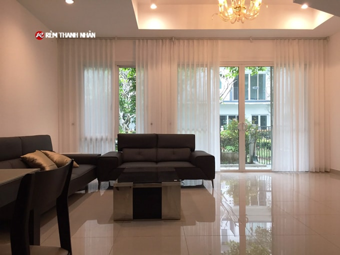 Rèm voan trắng TN071-88-15 đẹp trong rèm cửa 2 lớp kiểu Nhật