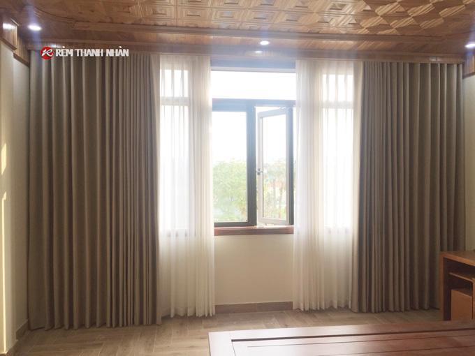 Rèm vải cản nắng đẹp TN568 phòng ngủ