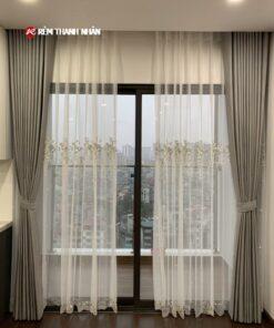 Rèm cửa 2 lớp TN568 phòng khách chung cư