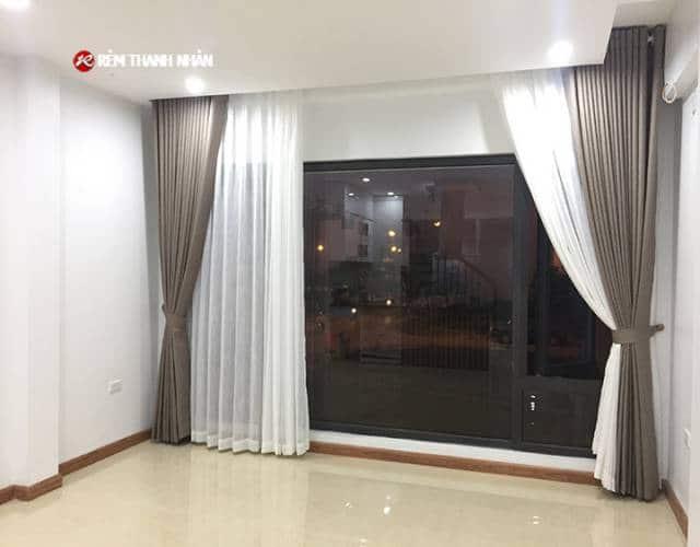 Rèm cửa đẹp 2 lớp phòng khách gia đình