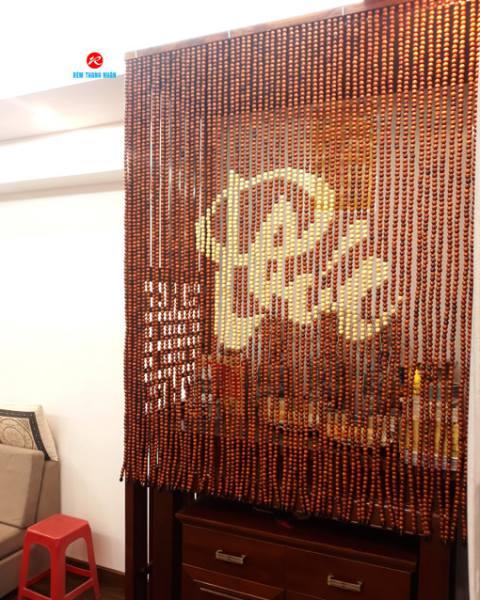 Rèm gỗ hạt chữ PHÚC phong thủy Ban Thờ