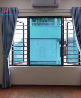 Rèm vải nỉ vân TN950 phòng ngủ