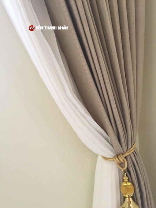 Rèm vải voan trắng xước TN085-44-60