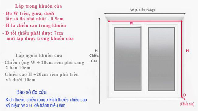 Cách đo mành cuốn cửa sổ