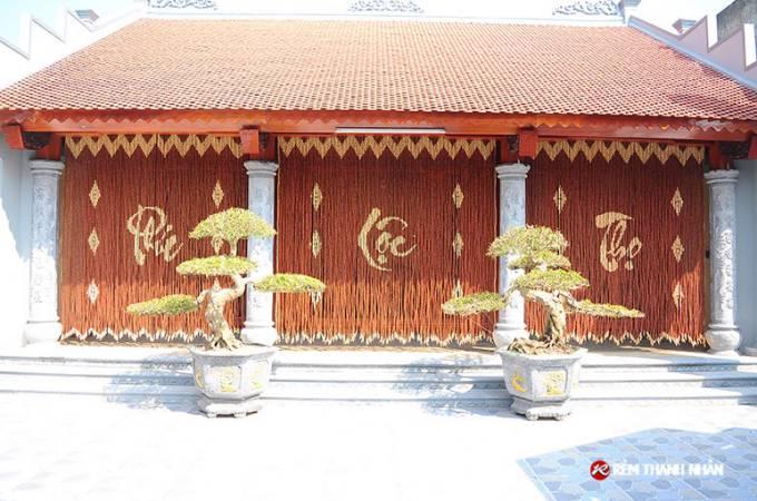 Công trình rèm hạt gỗ treo phong thuy nhà thờ tại Nam Định
