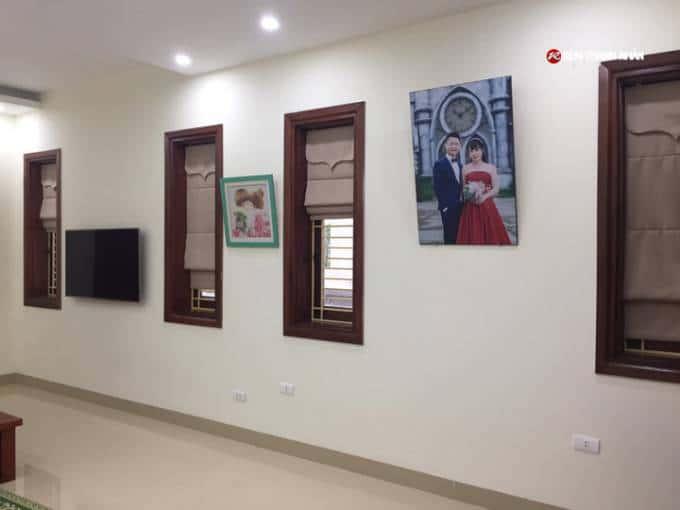Công trình rèm roman cửa sổ 2 lớp tại KĐT Phú Lương