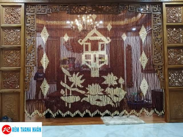 Mành cửa hạt gỗ che chắn Bàn thờ