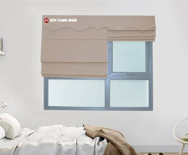 Mẫu rèm cửa sổ roman 2 lớp đẹp phòng khách