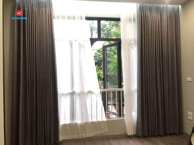 Mẫu rèm cửa sổ vải Hàn Quốc kim tuyến