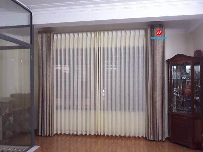 Rèm cửa 2 lớp vải gấm phòng khách
