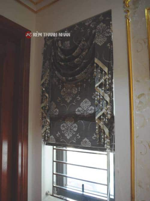 Rèm cửa sổ chống nắng vải gấm hoa văn