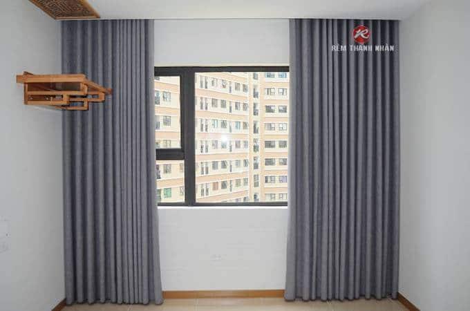 Rèm cửa sổ giá rẻ vải Solid màu ghi