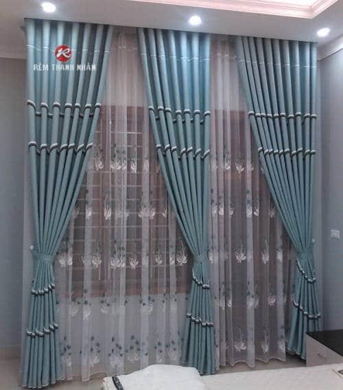 Rèm cửa sổ phòng ngủ hiên đại vải Cotton
