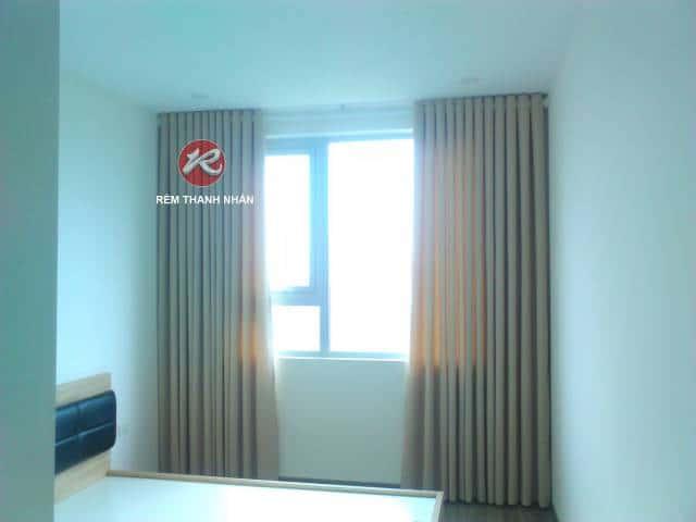 Rèm cửa sổ vải Gấm Bố màu be