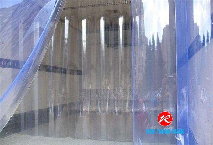Màn nhựa PVC màu xanh trong