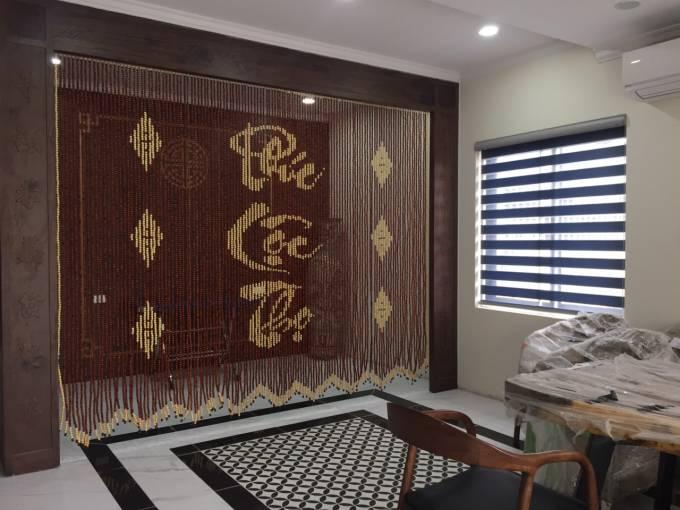 Mẫu rèm hạt gỗ chữ Phúc - Lộc - Thọ