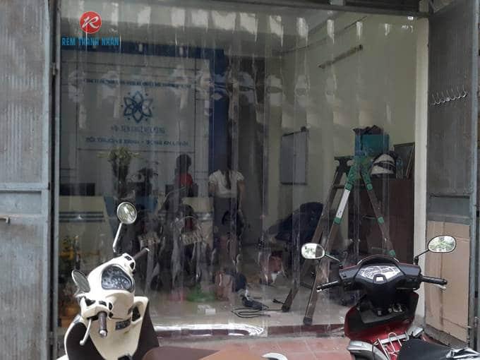 Rèm nhựa PVC trong suốt ngăn phòng máy lạnh tại Hà Đông