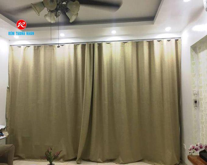 Rèm vải ngăn phòng lạnh điều hòa gia đình Hà Đông