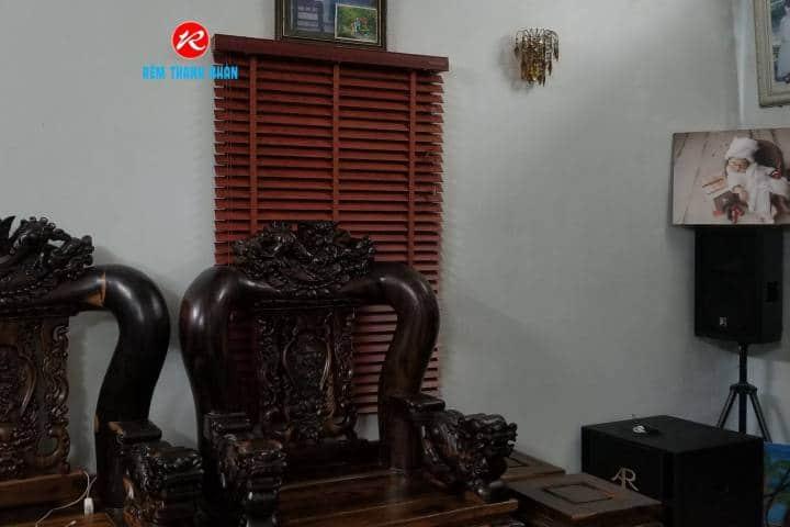 Rèm sáo gỗ đẹp cho phòng khách