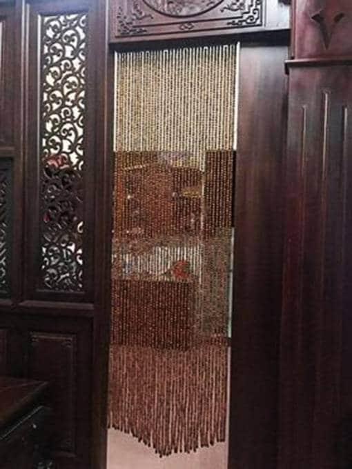 Mẫu rèm hạt gỗ Hương trơn