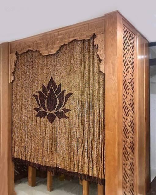 Rèm hạt gỗ Pơ Mu