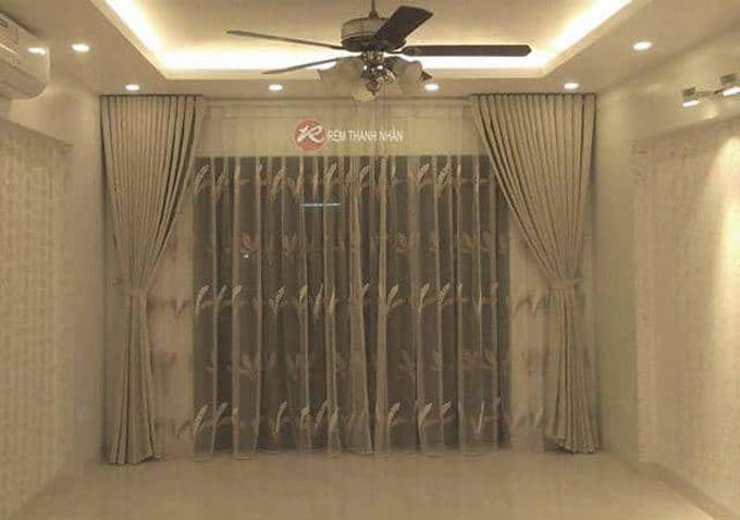 Rèm vải 2 lớp chất lụa đẹp sang trọng tại Hà Nội
